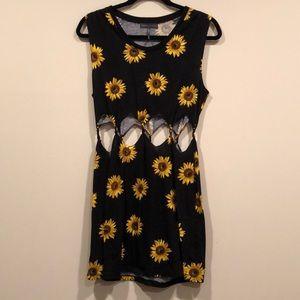 Sunflower Cut Out Dress